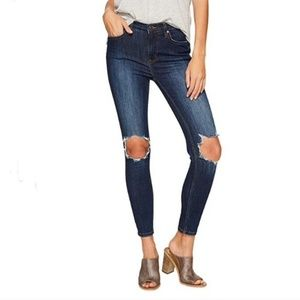 Free People High Rise Busted Skinny Jeans 31r